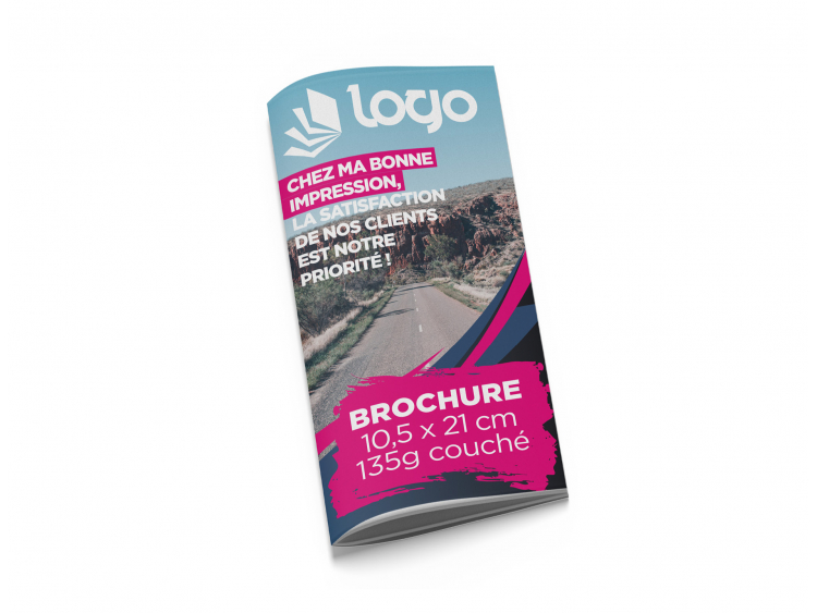 Brochure 10,5x21 cm - 20 pages sans couverture