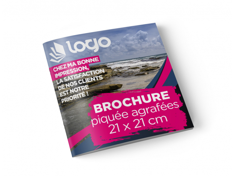 Brochure 21x21 cm - 32 pages sans couverture