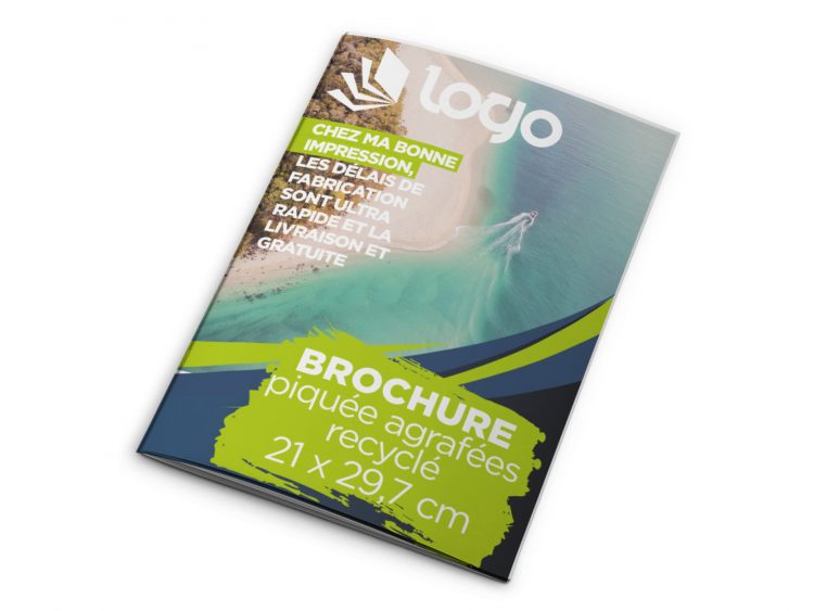 Brochure A4 Recyclée - 20 pages sans couverture